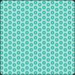 Patchworkstoff Stoff Quilt Oval Elements in türkis, grün Rest