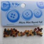 Knopf Packung *Micro Mini Round Fall*