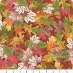 Patchworkstoff Quilt Stoff Natur, Herbstblätter