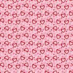 Patchworkstoff Quilt *Holiday Banners* Herzen auf rosa
