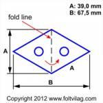 Schablone Template Diamond Rhombus Raute 39 mm 21 Teile Rh 21