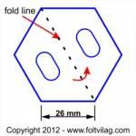 Schablone Template Hexagon 26mm 30 Teile Sechseck HX 30