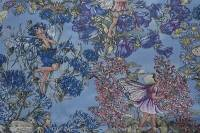 Patchworkstoff Elfe, Fee, Flower Fairy, Beistoff blau