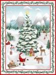 Baumwollstoff *Peace and Goodwill* Panel (90cm breit) Weihnachtsszene  5199p-68
