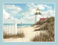 Patchworkstoff Panel *Peaceful Shore* ca. 85x110cm Leuchtturm Beach Strand