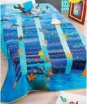 Materialpackung (nur Stoffe) Quilt *Ozean* ca. 1,55 x 2,10cm
