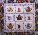 High Time for Tea Nähanleitung für ein Wandbild
