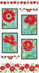 Patchworkstoff Panel (ca. 60cm) *Poppy Perfection*
