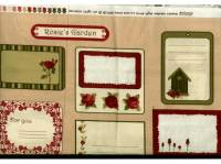 Patchworkstoff  Panel ca. 105x110 cm *Rosies Garden* Labels