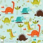 Patchworkstoff Quilt Stoff Dino Dinosaurier *Dinosaur* Blau