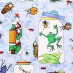 Patchworkstoff *Bugaboo* Gläser Frösche Insekten Ameisen Libellen grün blau weiß rot NC 4812-41