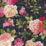 Patchworkstoff  *Natural Beauty Floral* Black