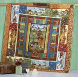 Materialpackung Quilt Tagesdecke *Reise durchs Land* ca. 2,30 x 2,30cm Jahreszeiten Country