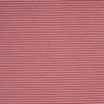 Jersey Baumwolle Stoff gestreift Streifen, 3 mm, weiß - burgundy