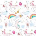 Patchworkstoff Flanell *White Unicorns Comfy Flannel*  Einhorn N0975AE-21