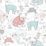 Patchworkstoff Flanell *White Pajama Llama & Friends Comfy Flannel* Lama Hase Lamm  14416AE
