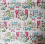 Patchworkstoff Pampered Pooch Hunde Hundesalon türkis creme rosa pink grün  25870