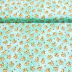 Auslaufmodell Ostern 2021 *Garden Days* Blumen Hase türkis weiß orange braun B10074
