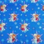Jersey Kinderstoff little Darling Disney Frozen Elsa Anna blau weiß rosa J125-985