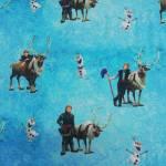 Jersey Kinderstoff little Darling Disney Frozen Kristoff Olaf blau weiß braun J126-333