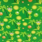 Jersey Giraffen Palmen Sonne Punkte grün gelb orange J4762-G