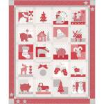 Nähanleitung *Country Christmas* Bunny Hill Design 69 Inch x 83 Inch Quilt BHD2155