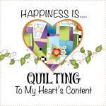 Patchwork Stoff Quilt Art Panel *Happiness is Quilting* AP674