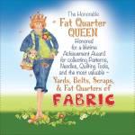 Patchwork Stoff Quilt Art Panel *Fat Quarter Queen* AP676