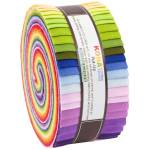 Jelly Roll 2 1/2 Inch Strips 40 Streifen *KONA* cotton solids Robert Kaufman RK-RU-688-40