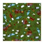 Patchworkstoff Quilstoff *Country Journey* Spring Novelty Green grün Farm HG2431-66