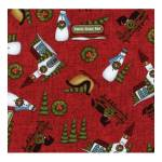 Patchworkstoff Quiltstoff *Country Journey* red Small Novelty Winter rot Pferd HG2430-88