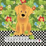 Patchworkstoff Quilt Art Panel *Dogs Tail* Hund braun grün AP6.69