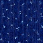 Baumwollstoff *Midnight Woods* Linien Blätter dunkelblau MIWO4349-DB
