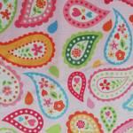 Patchworkstoff *My Sunshine* Paisley Blumen rosa orange türkis grün pink C3591