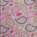 Patchworkstoff *Primrose Garden* Paisley Blumen grün rosa weiß pink C4042