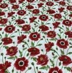 Patchworkstoff *Poppy Perfection* Mohnblumen weiß rot grün HG 1192