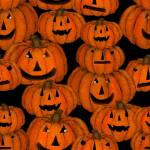 Patchworkstoff *Spooky Night* Halloween Kürbis orange schwarz 18113-BLK