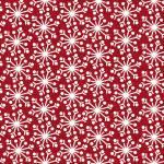 Patchworkstoff Flanell *Red Snowflake* Flannel Schneeflocken rot weiß F9938M-R