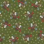 Patchworkstoff Flanell *Green Santa Hat* Flannel Hut Schneemann Stern Kugel grün weiß rot blau schwarz F9933M-G