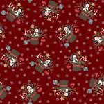 Patchworkstoff Flanell *Red Santa Hat* Flannel Hut Schneemann Stern Kugel grau weiß rot blau schwarz F9933M-R