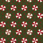 Patchworkstoff Flanell *Green Peppermint* Flannel Candy Bonbon weiß rot grün F9936M-G