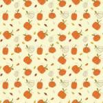 Patchworkstoff *Autumn Pumpkins Cream* Herbst Kürbis orange creme grün C10821R-CREA