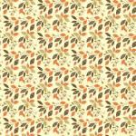 Patchworkstoff *Autumn Leaves Cream* Herbst Blätter orange gelb braun creme C10822-CREA