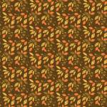 Patchworkstoff *Autumn Leaves Chocolate* Herbst Blätter orange gelb braun grün C10822-CHOC