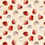 Patchworkstoff *Time For Hot Cocoa* Kakao Tassen Becher rot weiß creme WP 30524-232