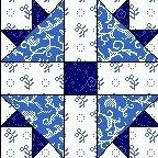 Quilt Block Anleitung mit Stoff  CROSS AND CROWN 12,5 Inch Quadrat FB-01