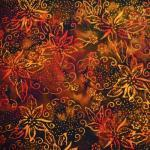 Patchworkstoff Quilt Stoff Bali Batik Chutney braun
