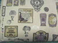 Leinenstoff Patchwork Quilt Stoff Japan Vintage Bilder auf beige