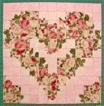 Materialpackung mit Nähanleitung für ein Watercolor Herz