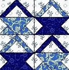 Quilt Block April 12,5 inch Quadrat BARBERSHOP BASKETS